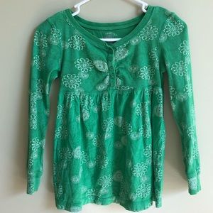 Green top with patterns